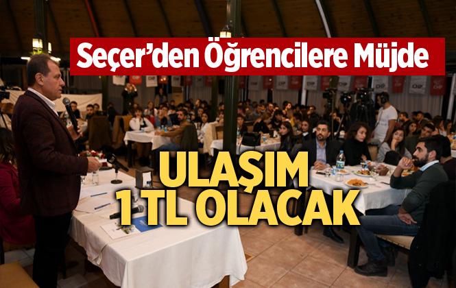 """Başkan Seçer'den Üniversiteli Gençlere """"Ulaşım 1 TL'de Kalacak"""" Müjdesi"""