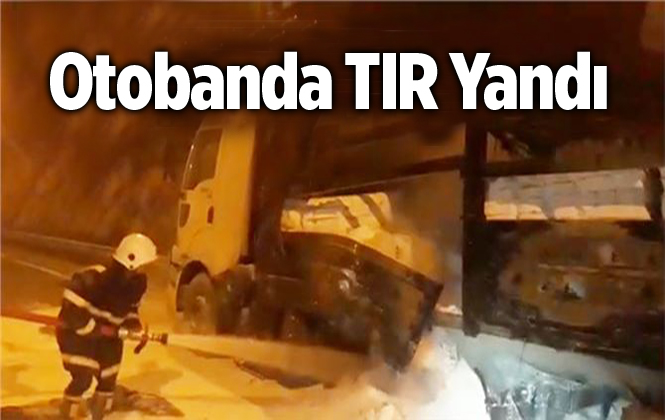 Mersin'de Beyaz Çimento Yüklü Tır'ın Dorsesinde Yangın