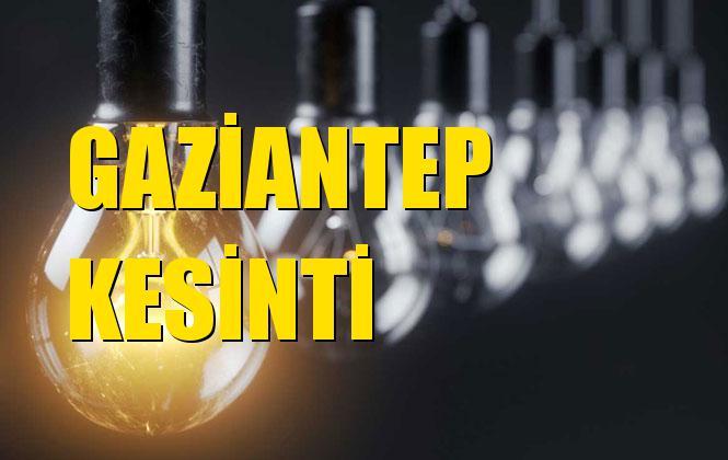 Gaziantep Elektrik Kesintisi 21 Aralık Cumartesi