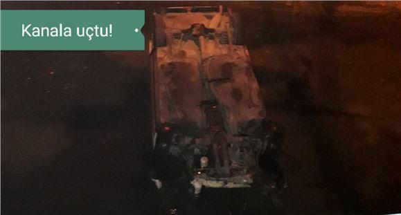 Mersin Tarsus'ta Otomobil Cetvel Kanalına Uçtu