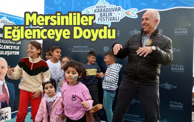 Mersinliler Karaduvar Balık Festivali'nde Eğlenceye Doydu