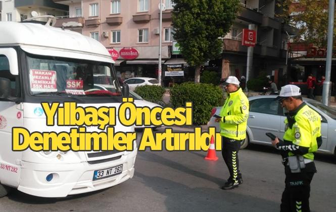 Mersin Tarsus'ta Yeni Yıl Öncesi Toplu Taşıma Araçları Denetlendi