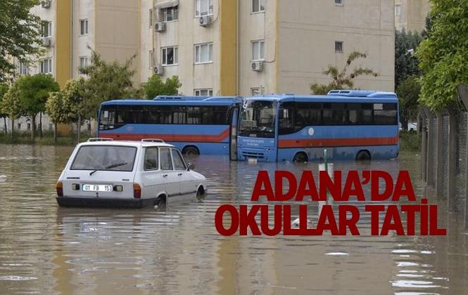 Adana'da Okullar Tatil Edildi