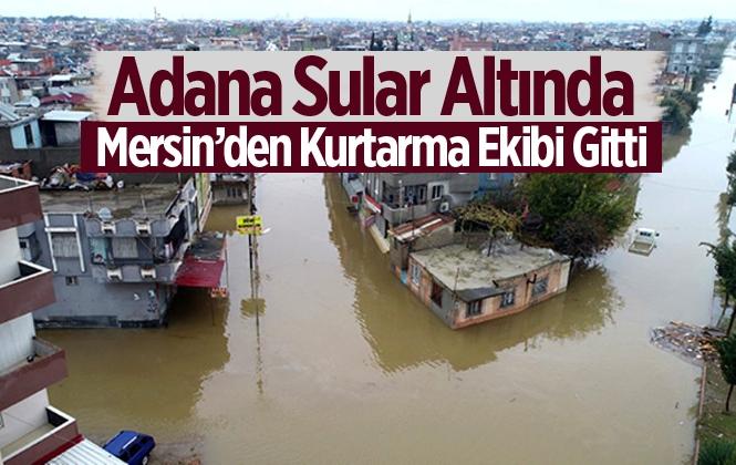 Selden Mağdur Olan Adana'ya Mersin İtfaiyesi'nden Destek