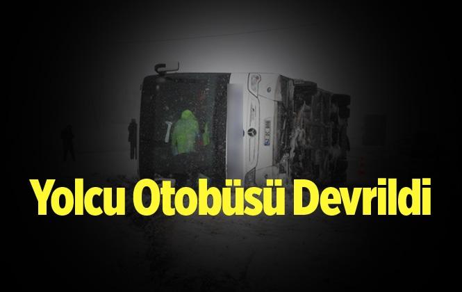 Karaman'da Yolcu Otobüsü Devrildi 25 Yaralı