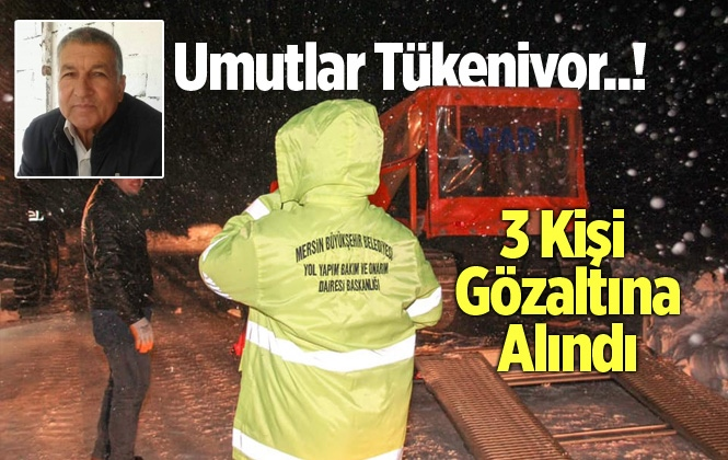 Erdemli'de Kaybolan Ali Kaçar'ı Arama Çalışmaları Durduruldu
