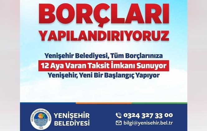 Yenişehir'de Borçlar Yapılandırılıyor, Borçlar İçin 12 Aya Varan Taksit İmkanı