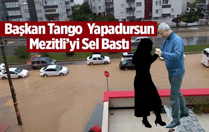 Mersin Mezitli'yi Sel Bastı