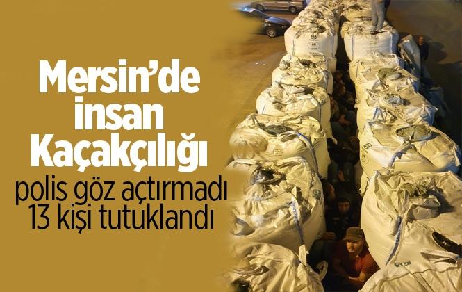 Mersin'de İnsan Kaçakçılığı Yapan 13 Kişi Tutuklandı