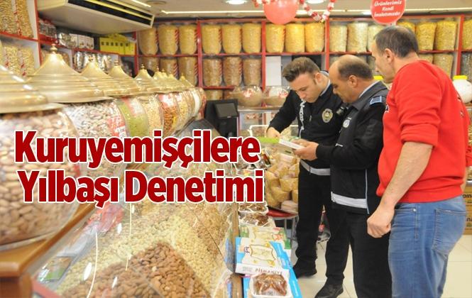 Yenişehir'de Yılbaşı Öncesi Kuruyemişçiler Denetlendi