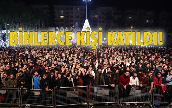 Mersin'de Yeni Yıl Coşkusu! 2020 Yılbaşı Kutlamasına Binlerce Mersinli Katıldı