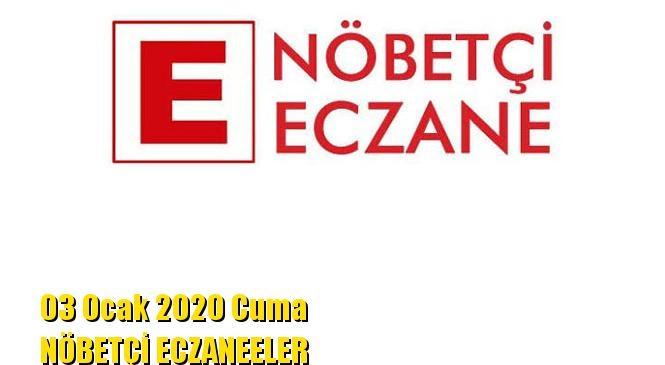 Mersin Nöbetçi Eczaneler 03 Ocak 2020 Cuma