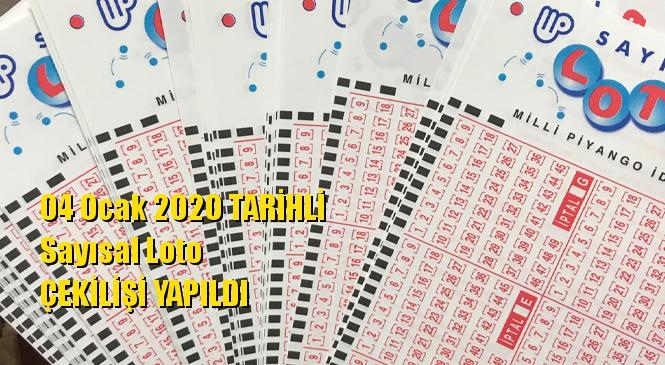 04 Ocak 2020 Sayısal Loto Sonuçları