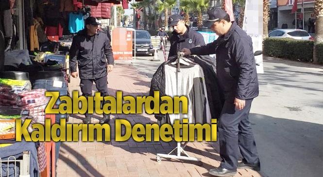 Mersin'de Kaldırım İşgali Yapan Esnaflar Uyarıldı