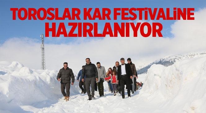 Toroslar'da Kar Festivali Başlıyor