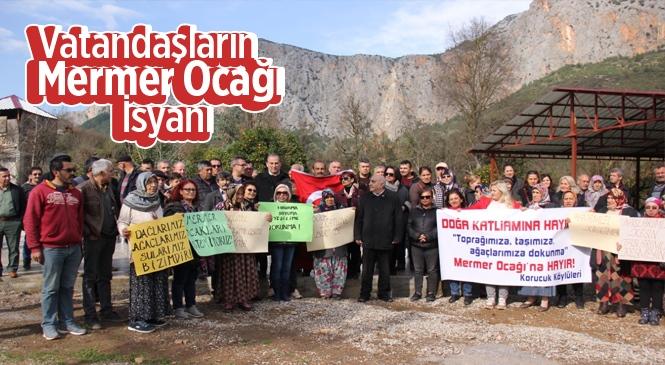 Mersin Anamur'da Mahalle Sakinlerinin Mermer Ocağı İsyanı