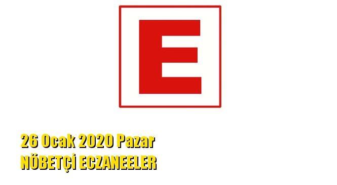 Mersin Nöbetçi Eczaneler 26 Ocak 2020 Pazar