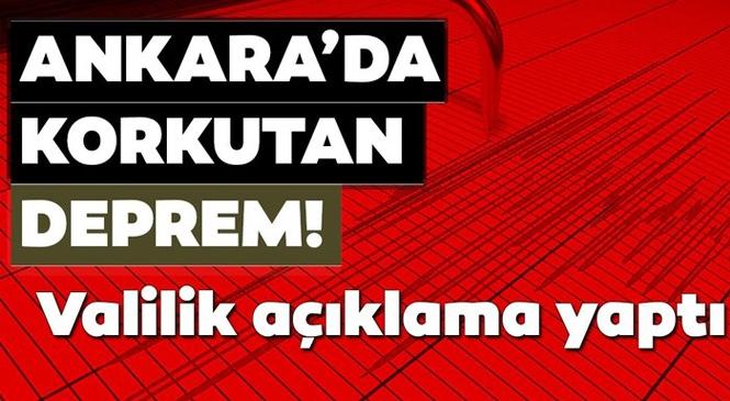 Merkez Üssü Ahmetadıl-Akyurt (Ankara) Olan 3.3 Büyüklüğünde Deprem Meydana Geldi