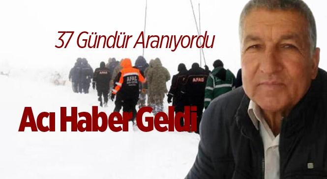 Mersin Erdemli'de Kayıp Ali Kaçar'ın Cansız Bedeni Bulundu