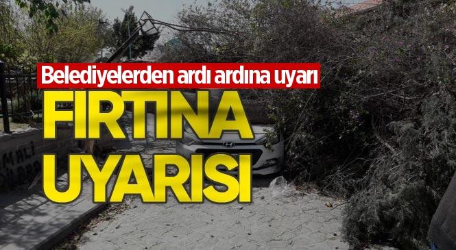 Mersin'de Fırtına Uyarısı