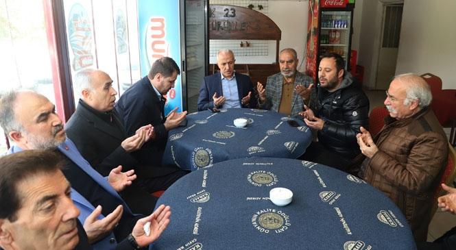 Akdeniz Beldiye Başkanı Gültak'tan, Elazığlılara Taziye Ziyareti