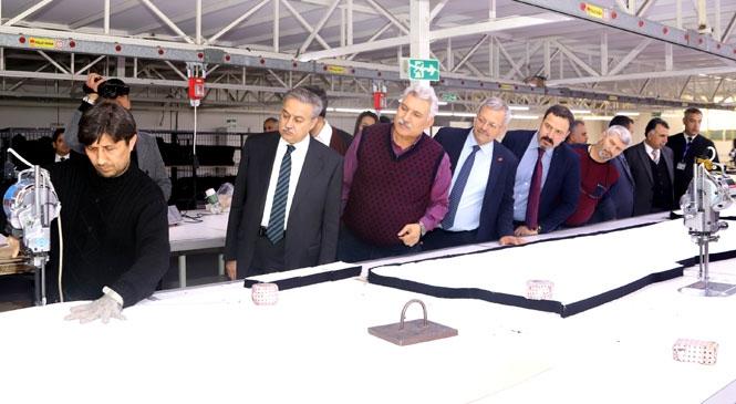 Mersin Tarsus Organize Sanayi Bölgesi ( MTOSB ) Müteşebbis Heyeti Fabrikalarda İncelemelerde Bulundu