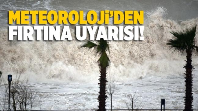 Mersin Meteoroloji Müdürlüğü'nden Sondakika Fırtına Uyarısı Geldi