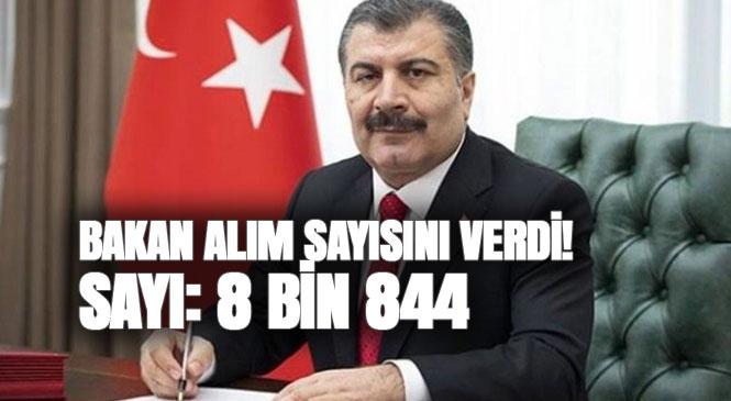 Sağlık Bakanı Fahrettin Koca, Twitter Hesabından, Sözleşmeli Sağlık Personeli Alımına İlişkin Açıklama Yaptı, Alım Sayısı 8.844