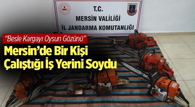 Mersin Anamur'da Çalıştığı İş Yerinden Motorlu Testere Çalan Zanlı Yakalandı