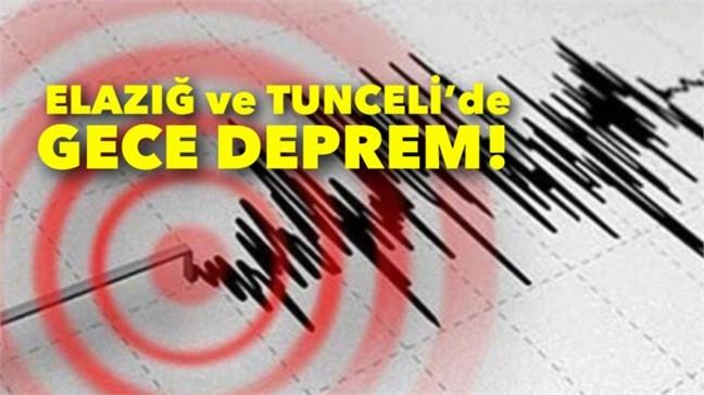 Gece Elazığ'da 3.1 ve Tunceli'de 3.4 Büyüklüğünde Deprem Meydana Geldi