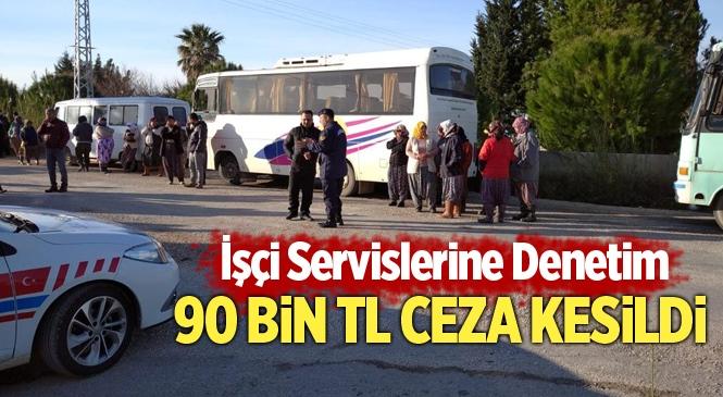 Mersin'de İşçi Servisleri Denetlendi