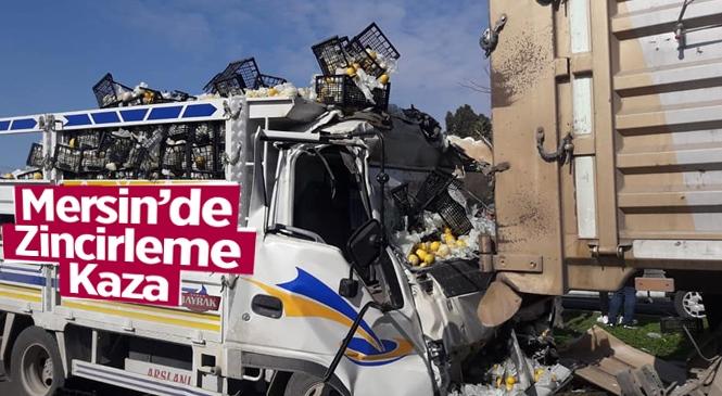 Mersin'de Zincirleme Trafik Kazası 2 Yaralı