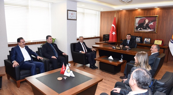 Tatlısu Belediyesinden Tarsus TSO'ya Ziyaret