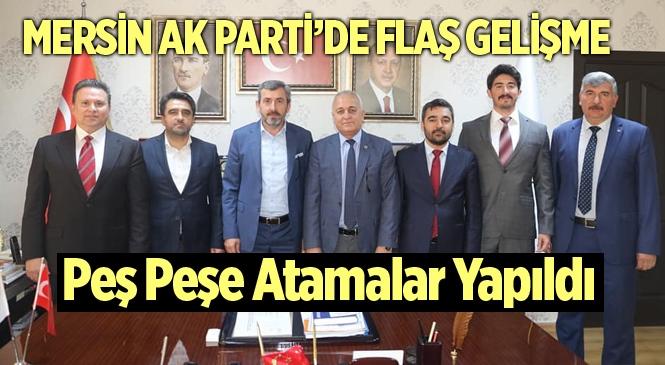 AK Parti Tarsus Başkanlığına Bülent Göçmen, Mezitli Başkanlığında Zafer Uslu Atandı