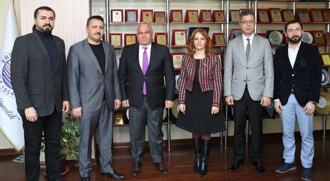 Mersin Üniversitesi'nden Başkan Tollu'ya Ziyaret