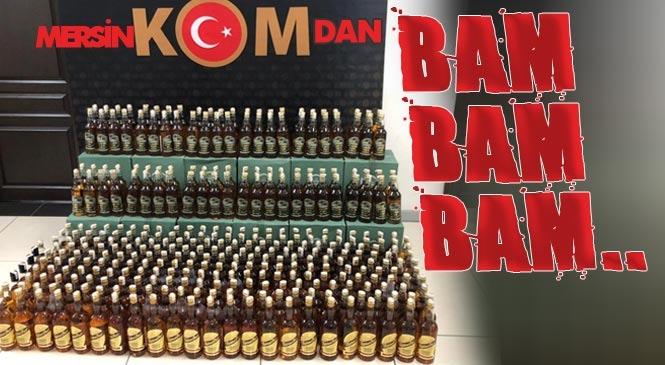 Mersin İl Emniyet Müdürlüğü KOM Şubeden Sahte İçkiye Bam Bam Bam!
