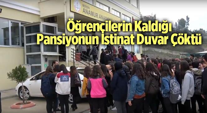 Pansiyonun İstinat Duvarı Çöktü Öğrenciler Tahliye Edildi