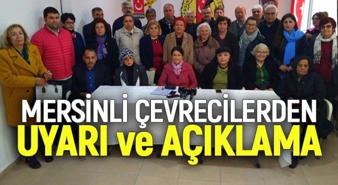 Mersin'deki Çevrecilerden Birçok Konuya Dair Uyarının Yer Aldığı Basın Duyurusu