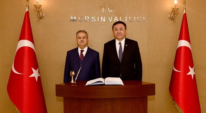 Kırgızistan Ankara Büyükelçisi Kurbanychbek Omuraliev'den Vali Su'ya Ziyaret