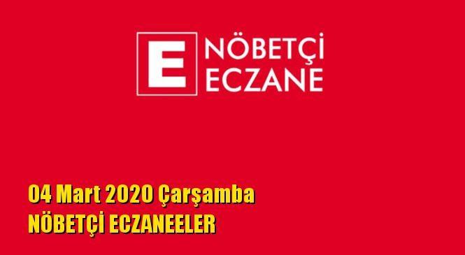 Mersin Nöbetçi Eczaneler 04 Mart 2020 Çarşamba