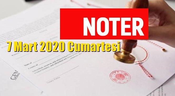 Mersin ve Tarsus Nöbetçi Noterler 7 Mart 2020 Cumartesi Günü