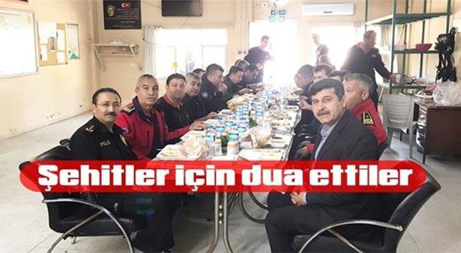 Mersin Tarsus'ta İtfaiye Personeli, Şehitler İçin Mevlit Okuttu