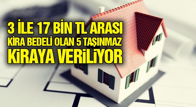 Mersin Büyükşehir Belediyesine Ait Taşınmazlar İhale İle Kiraya Verilecek