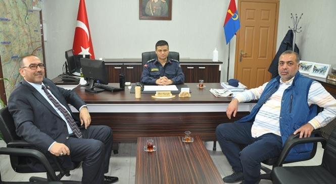 Başkan Şen ve Say'dan Jandarma Komutanına Ziyaret