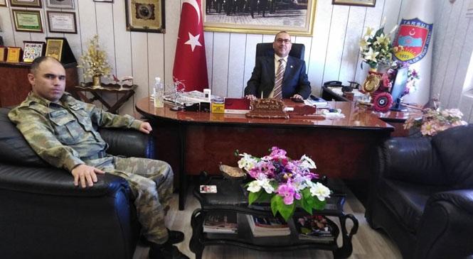 Tarsus Garnizon Komutanı, Başkan Duran Şen'i Ziyaret Etti