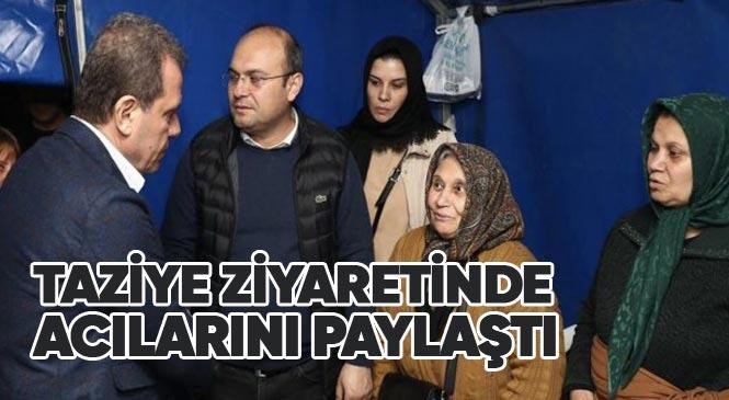 Başkan Vahap Seçer, Yasemin Özel'in Ailesine Taziye Ziyaretinde Bulunarak, Acılarını Paylaştı