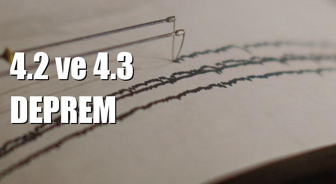 Merkez Üssü Tokat Almus 4.2 ve Van Gürpınar 4.3 Büyüklüğünde Deprem Meydana Geldi