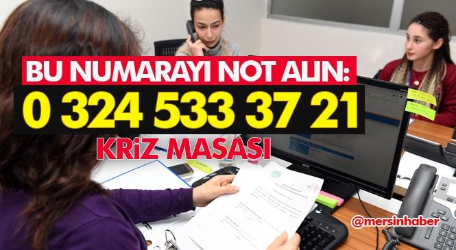 Mersin Kriz Merkezi Telefon Numarası: 0 324 533 37 21, Koronavirüs İçin Kamu Kurum ve Kuruluşları İle Haberleşme Hattı