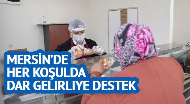 Mersin'de Mahalle Mutfakları Hizmete Açıldı! Mahalle Mahalle Vatandaşa Hijyenik Koşullarda 3 TL'ye 3 Çeşit Yemek Veriliyor