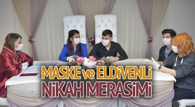 Mersin Yenişehir'de Kıyılacak NikÂhlarda Koronavirüs Önlemi! Maske ve Eldiven Takıldı
